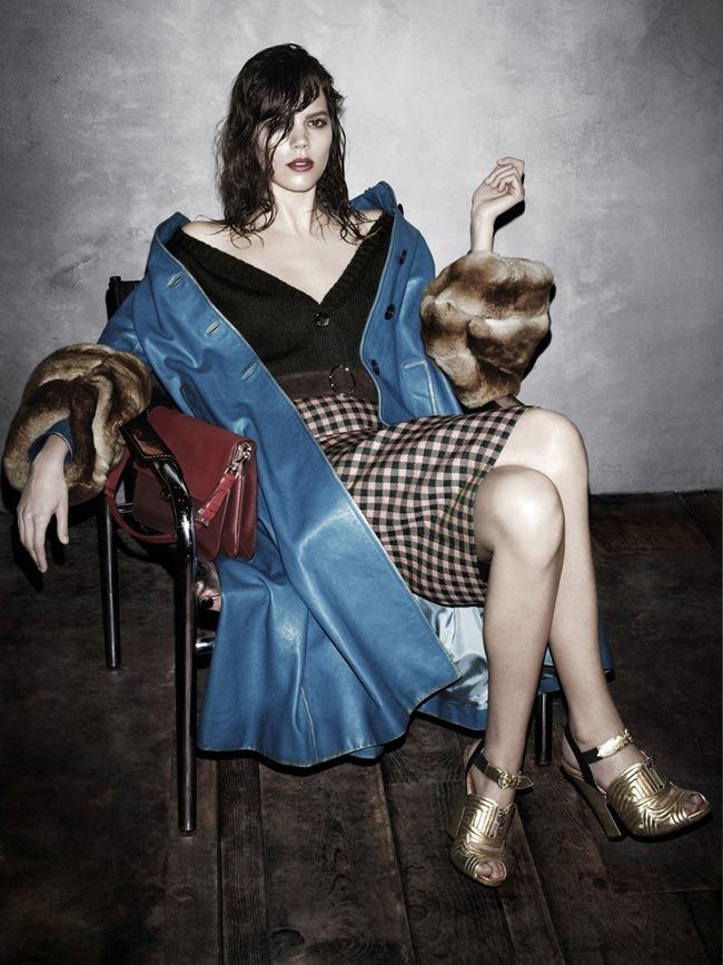 Freja Beha Erichsen in Prada fw 2013 ad campaign