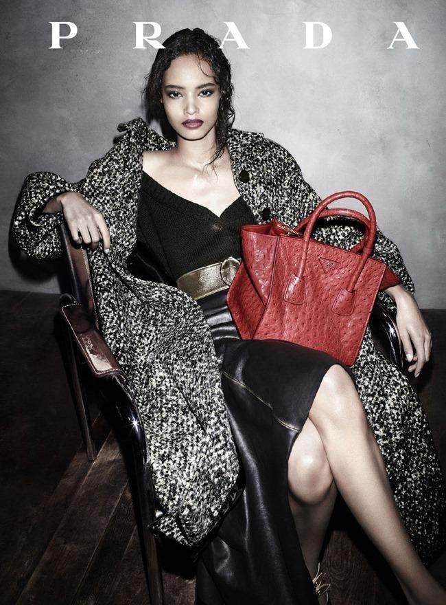 Malaika Firth in Prada fw 2013 ad campaign