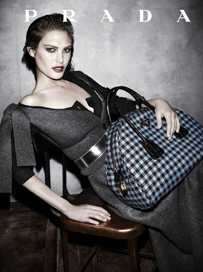 Catherine McNeil  in Prada fw 2013 ad campaign