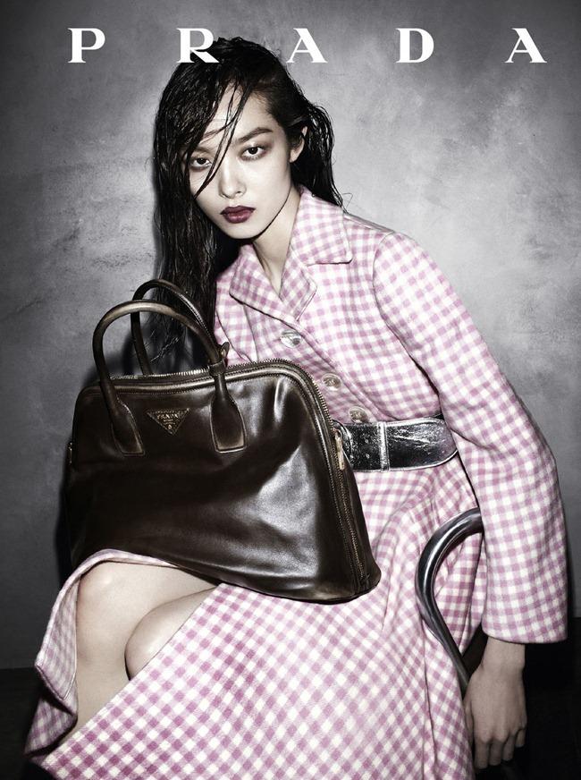 Fei Fei Sun in Prada fw 2013 ad campaign