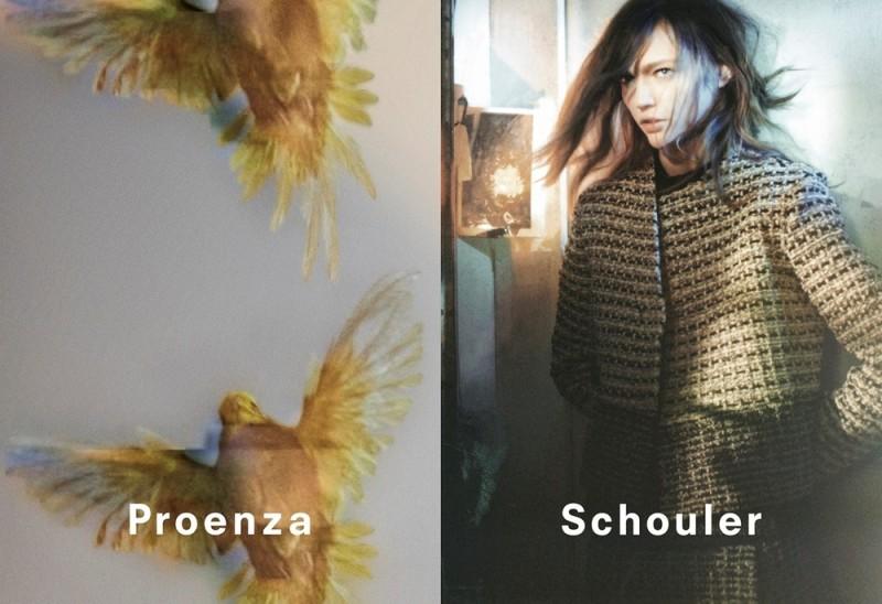 Sasha Pivovarova by David Sims, Proenza Schouler fw2013 ad campaign