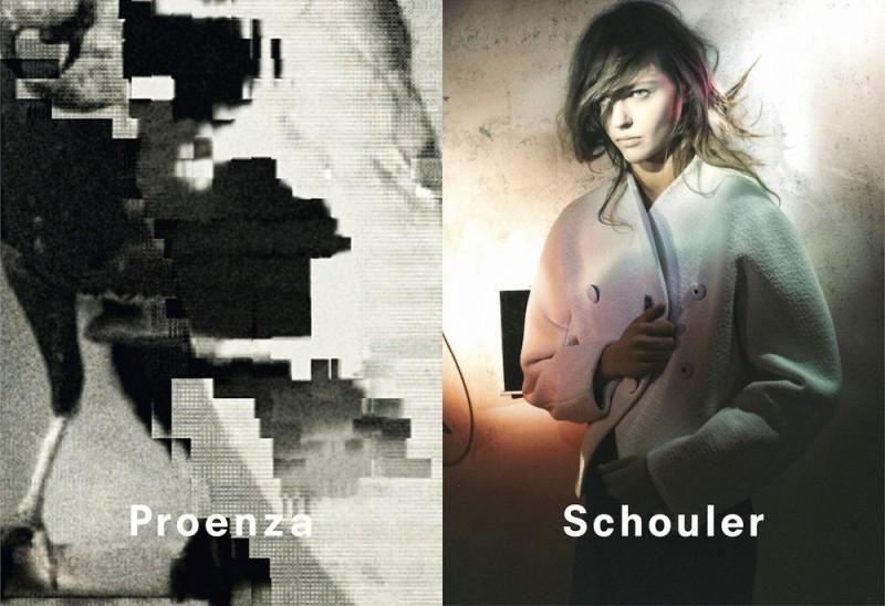 Sasha Pivovarova for Proenza Schouler fw2013 by David Sims
