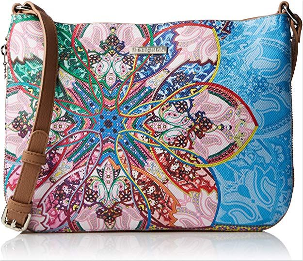 Mexican Desigual bag with a flower-shaped pattern