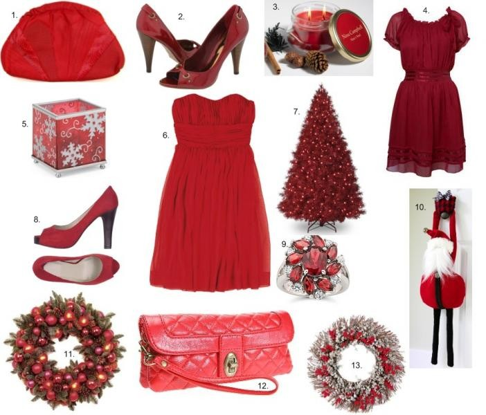 Red Christmas colour theme