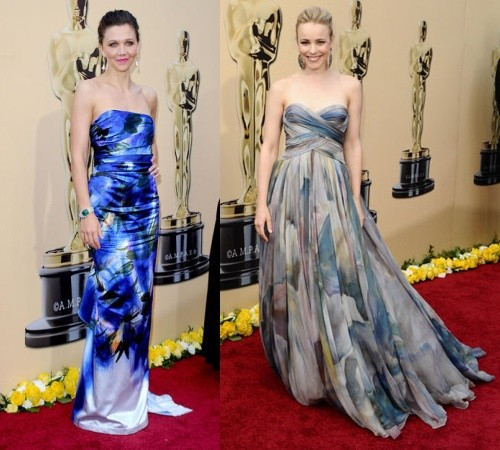 Subtle elegance and lovely prints at the Oscars 2010