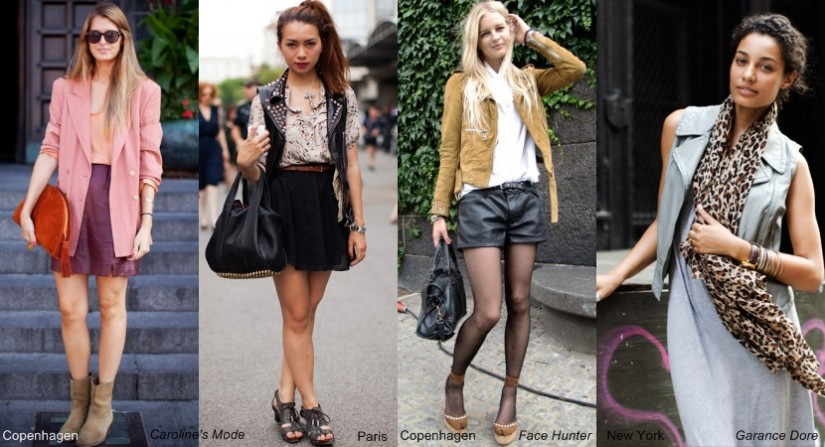 Stylish City: vintage denim, summer leather and 70s style