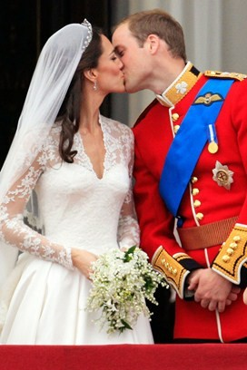royal kiss: Catherine and William