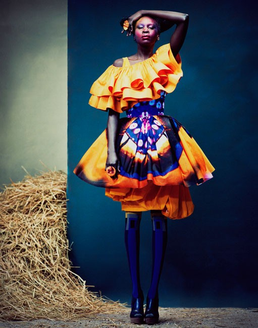 "Alek Wek in ""Global Gathering"" by Andrew Yee"