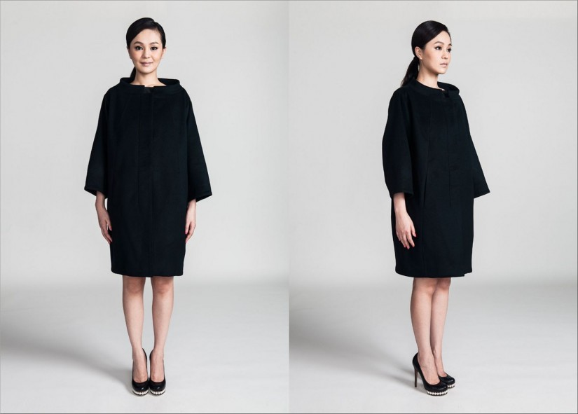 Cocoon coat by Christian Blanken