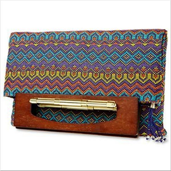 Duro Olowu for jcp Wood-Handled Tapestry Flat Tote