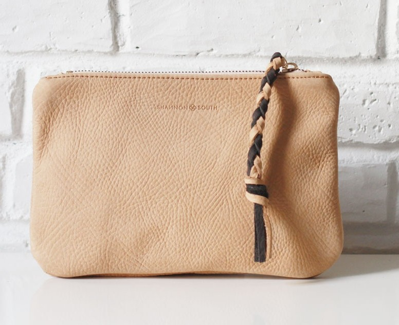 Keuka Clutch nubuck leather clutch