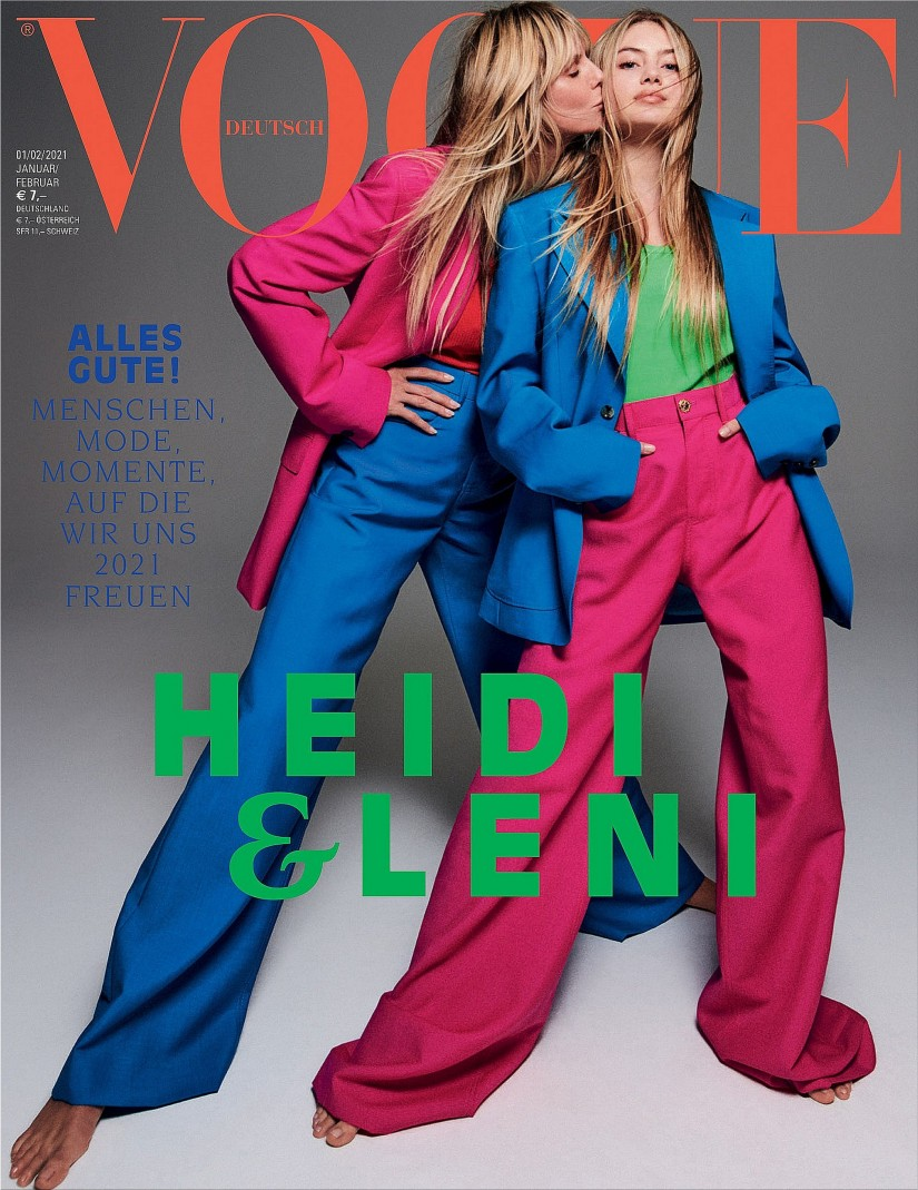 Leni Klum made her debut in Vogue