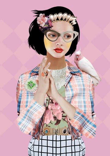 Sugar Sweet collage by Peggy Wolf