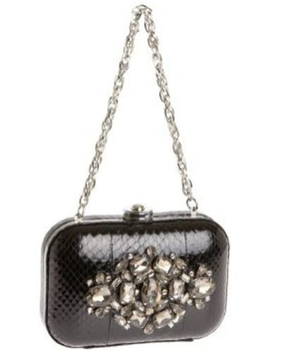 Rafe Sasha Metallic Clutch