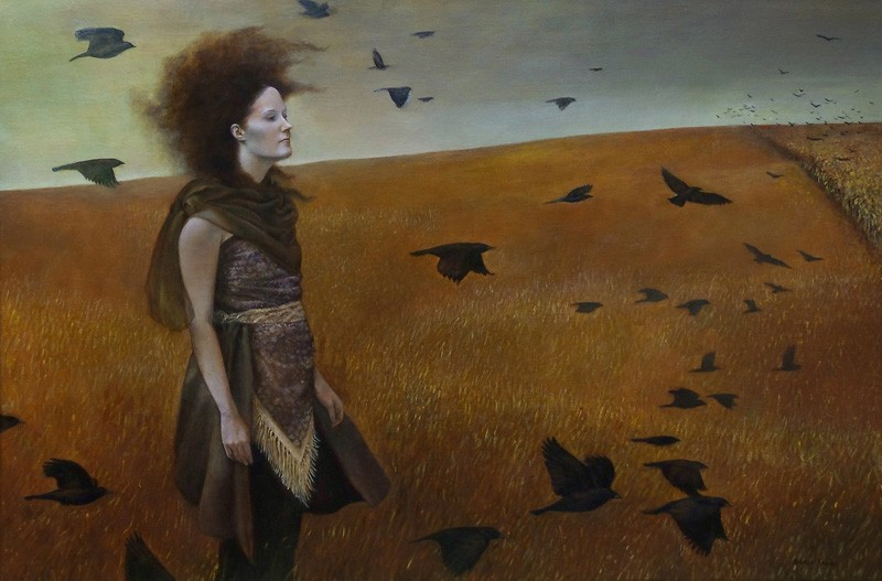 Andrea Kowch, Blackbirds are Gathering