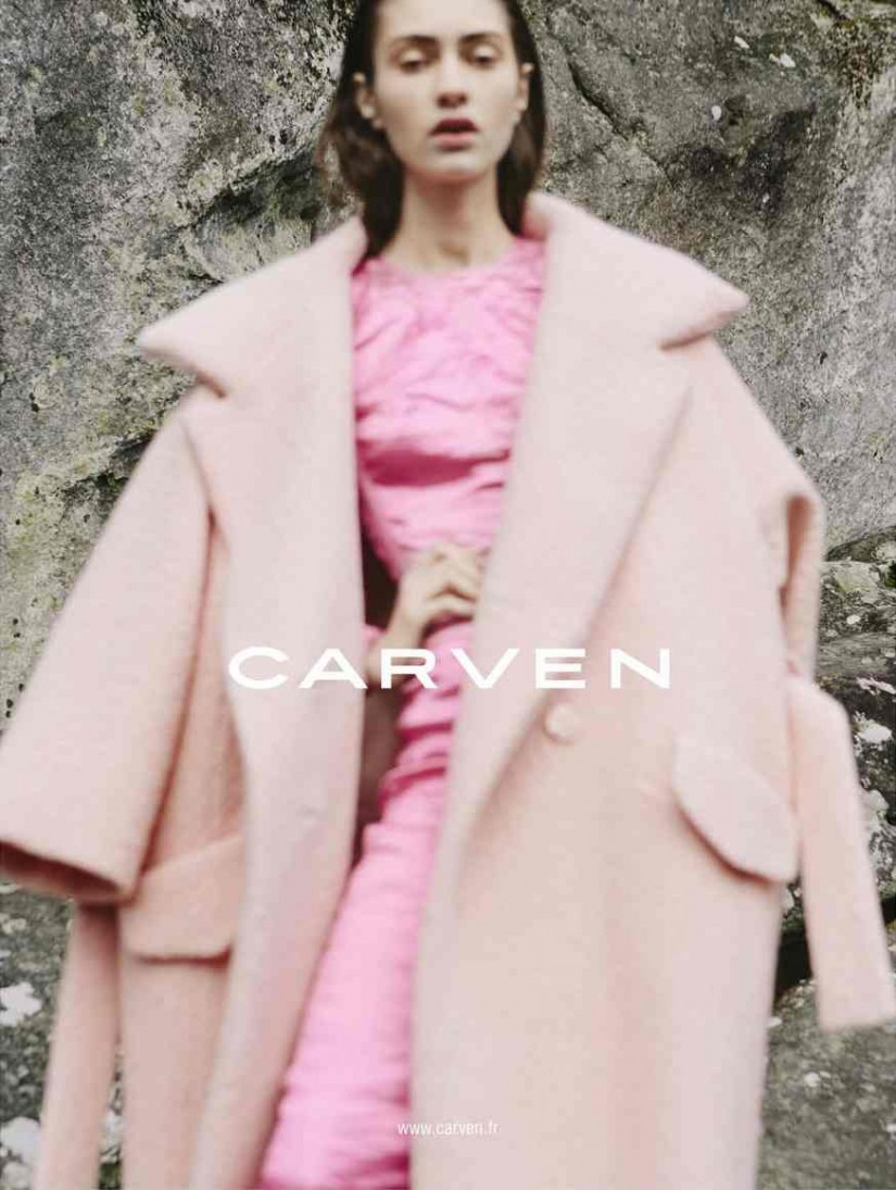 Marine Deleeuw for Carven fall-winter 2013 advertising campaign