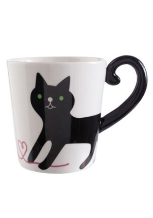 Cat Tail Handle Mug