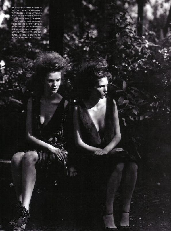 Deborah Turbeville, Variations on chic, Vogue Italia, 2009