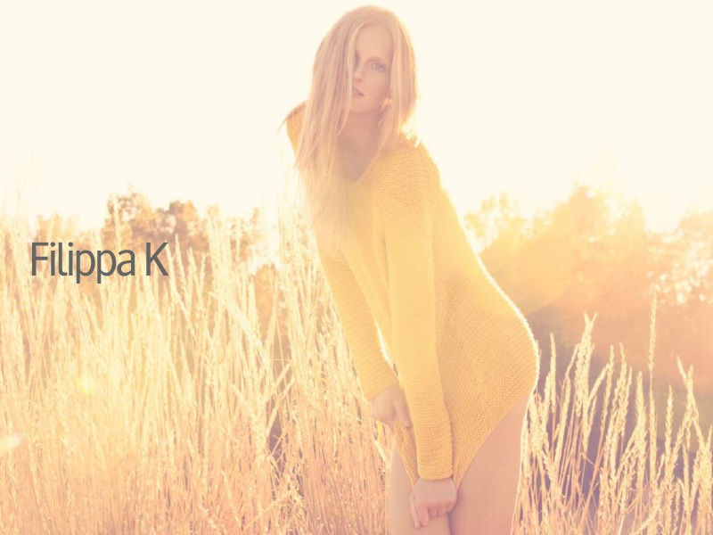 Katrin Thormann in Fillipa K woman ad campaign