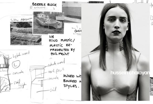 Ann-Catherine Lacroix - Hussein Chalayan campaign