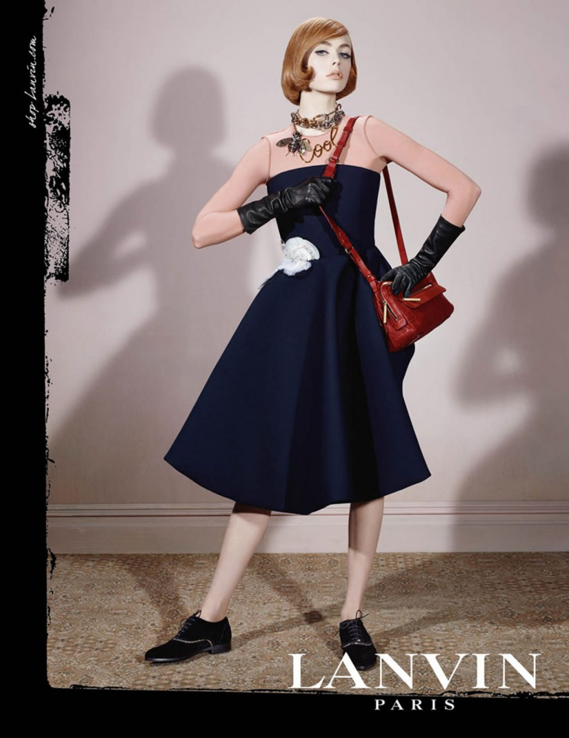 Lanvin ad campaign with Edie Campbell by Steve Meisel