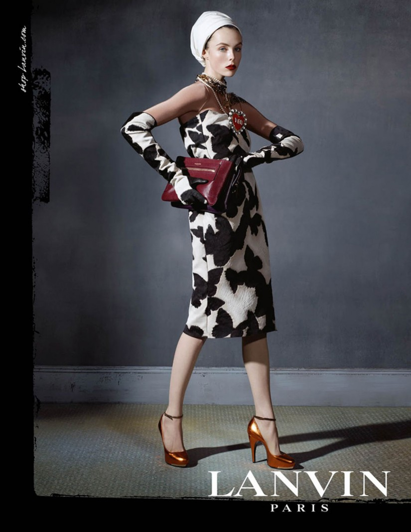Edie Campbell by Steve Meisel for Lanvin ad campaign