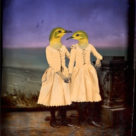 Bird girls by the sea, 1999, by Maggie Taylor