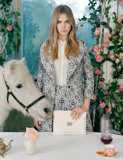 Cara Delevingne by Tim Walker for Mulberry SS 2014