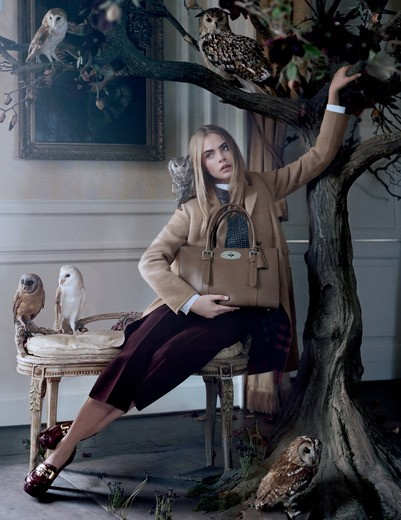 Mulberry FW 2013 ad campaign starring Cara Delevingne