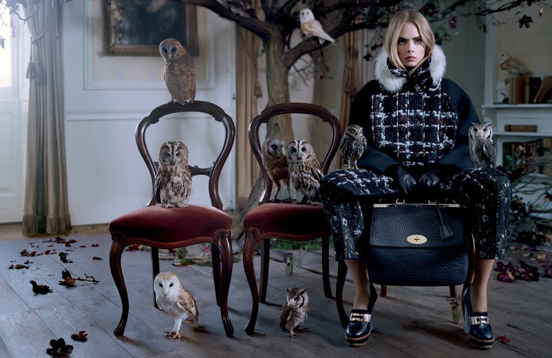 Cara Delevingne in Mulberry FW 2013 ad campaign
