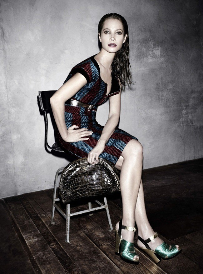 Christy Turlington in Prada fw 2013 ad campaign