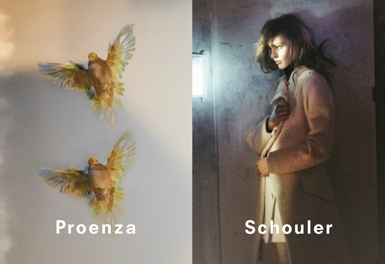 Sasha Pivovarova by David Sims for Proenza Schouler fw2013