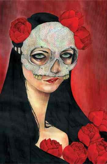 Mascarilla, oil painting by Shannon Toth