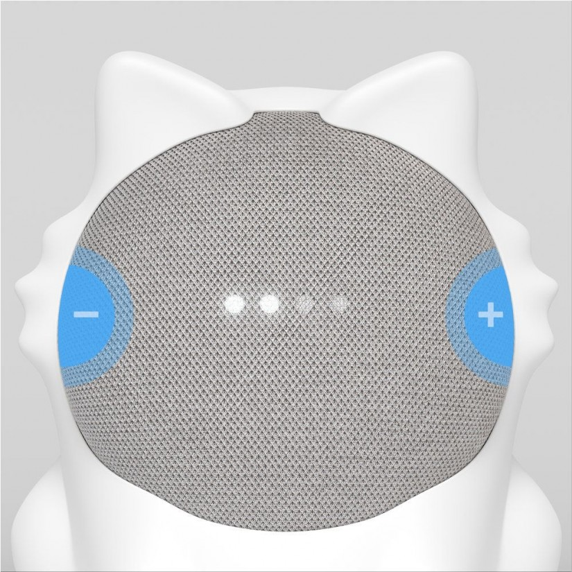 Caat - a cute cat shaped silicone skin for your Google Home Mini