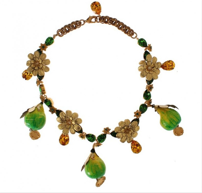 Dolce&Gabbana FIG Fruit Sicily Crystal Necklace