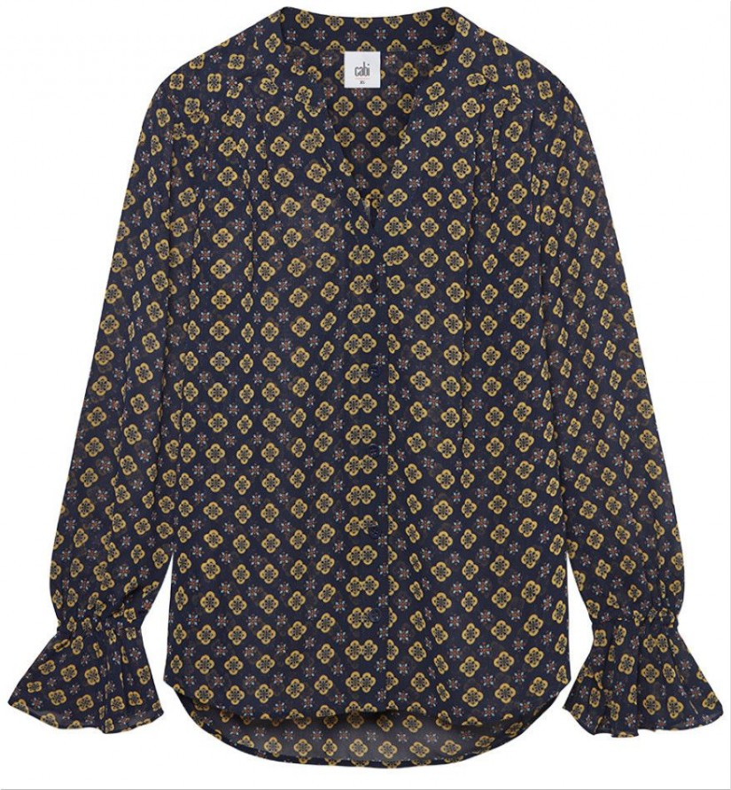 Mosaic Blouse - middle ground between a floral and a skin print