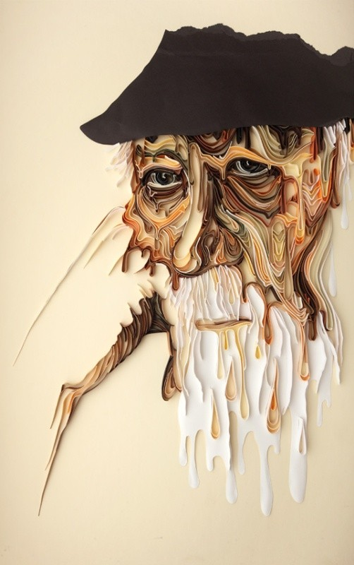 Melting, paper art installation, Yulia Brodskaya
