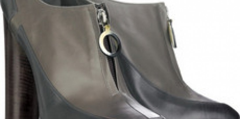 Two-tone shoe boots