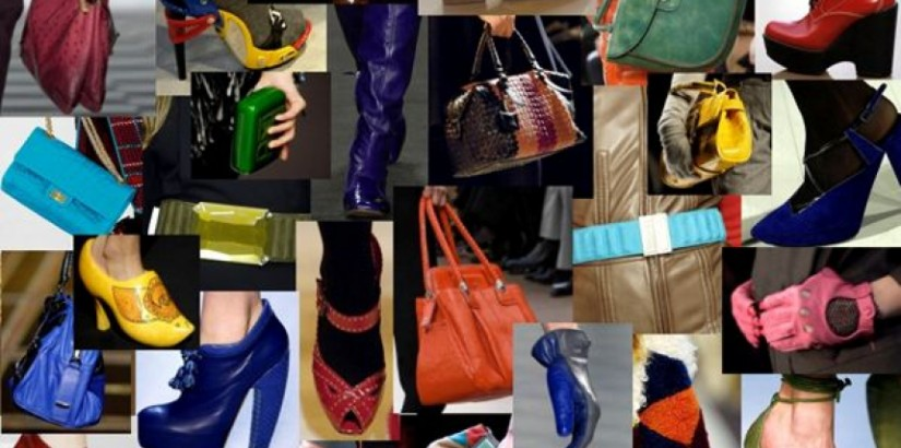 Bold coloured fashion accessories