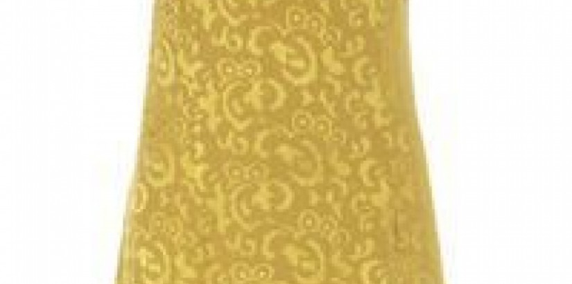 Gold Jacquard Dress