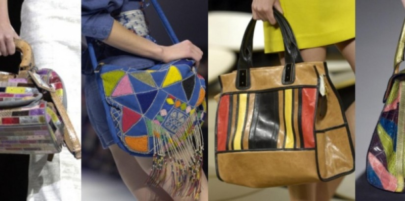 Multicolor handbags