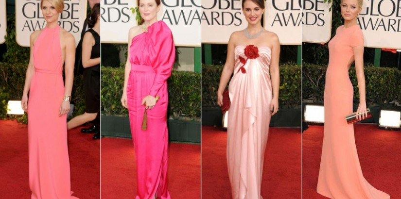 Golden Globes 2011 - pink color trend