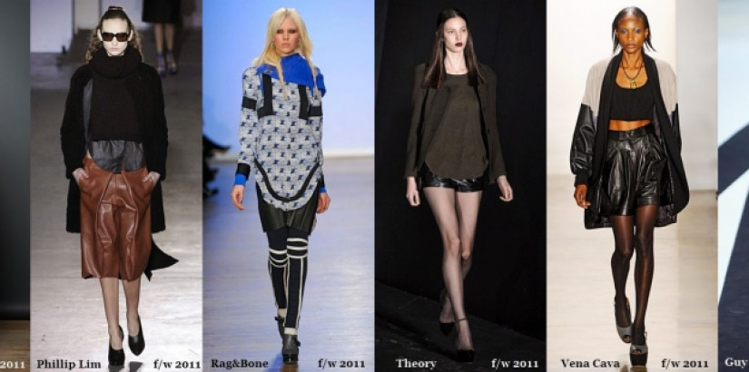 leather shorts trend - fw 2011/2012