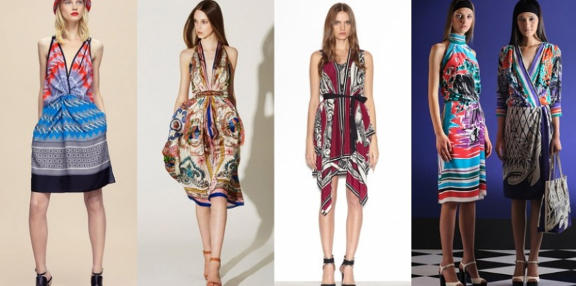resort 2012 trend: batik scarf dress
