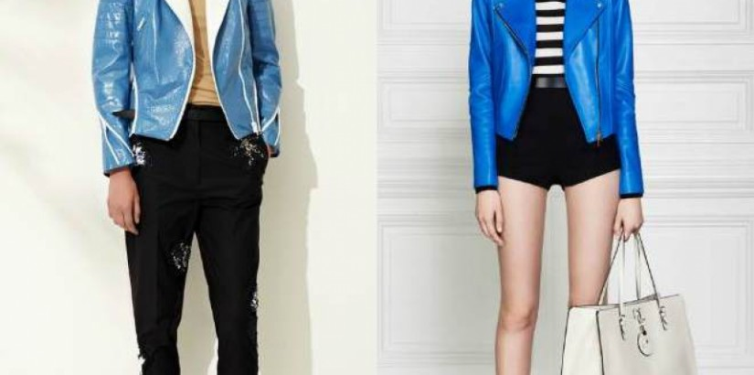 blue leather jacket of resort 2013