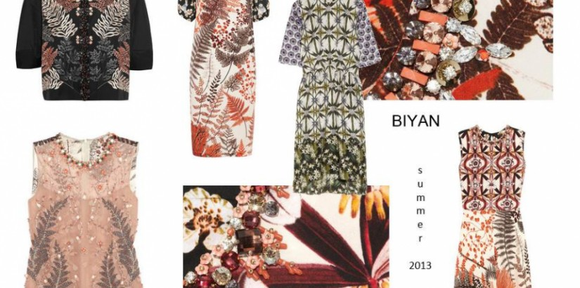 Biyan summer 2013 fashion collection