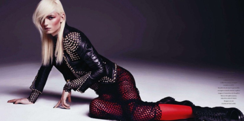 "Andrej Pejic in L""Officiel Magazine"
