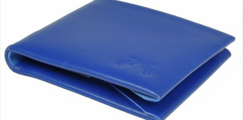 Blue Leather Wallet from Maxx & Unicorn