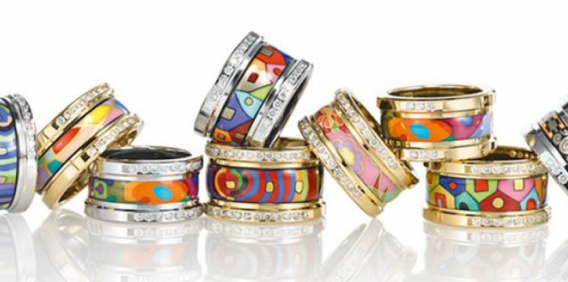 Handcrafted enamel jewellery