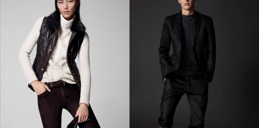 Liu Wen and Victor Nylander for Massimo Dutti